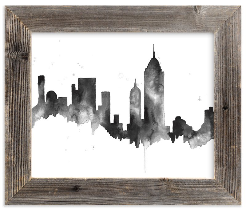 """""""New York City Skyline"""" - Limited Edition Art Print by Kelsey McNatt in beautiful frame options and a variety of sizes."""