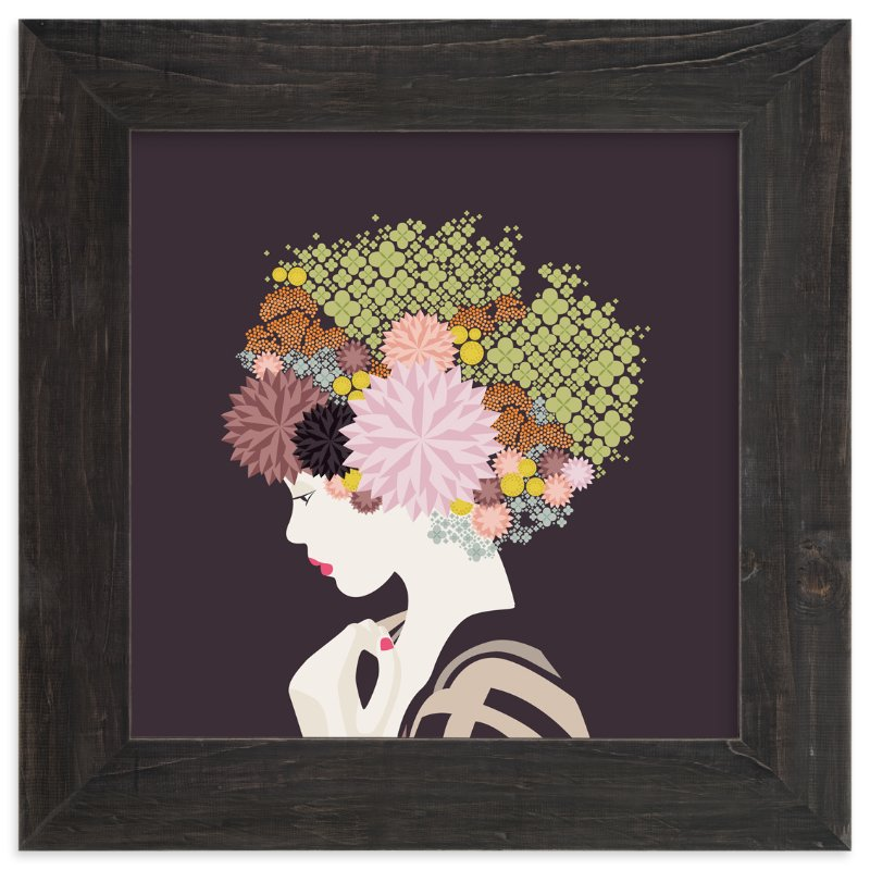 """I'd rather wear flowers "" - Limited Edition Art Print by Aspacia Kusulas in beautiful frame options and a variety of sizes."