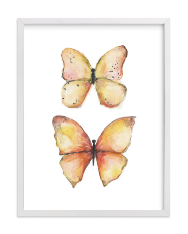 """Rhopalocera One"" - Limited Edition Art Print by Erin Deegan in beautiful frame options and a variety of sizes."