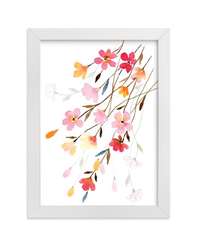 """""""Blossoming"""" - Limited Edition Art Print by Stephanie Ryan in beautiful frame options and a variety of sizes."""