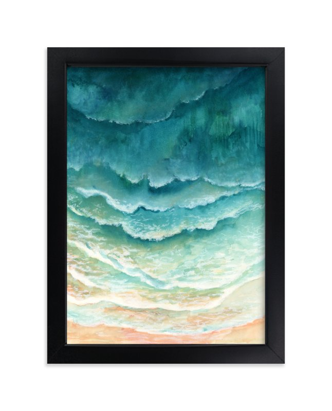 """Ombre Waves"" - Limited Edition Art Print by Honeybunch Studio in beautiful frame options and a variety of sizes."