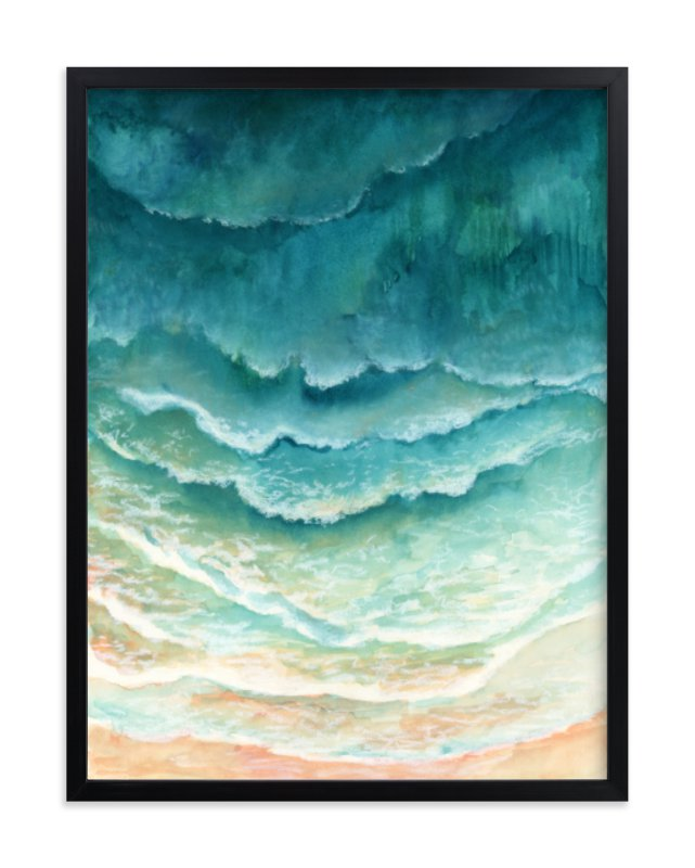 """""""Ombre Waves"""" - Limited Edition Art Print by Honeybunch Studio in beautiful frame options and a variety of sizes."""