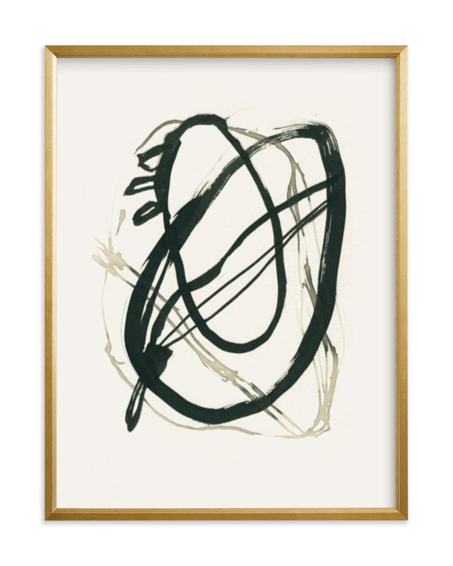 """""""Black 01"""" - Limited Edition Art Print by Catilustre in beautiful frame options and a variety of sizes."""