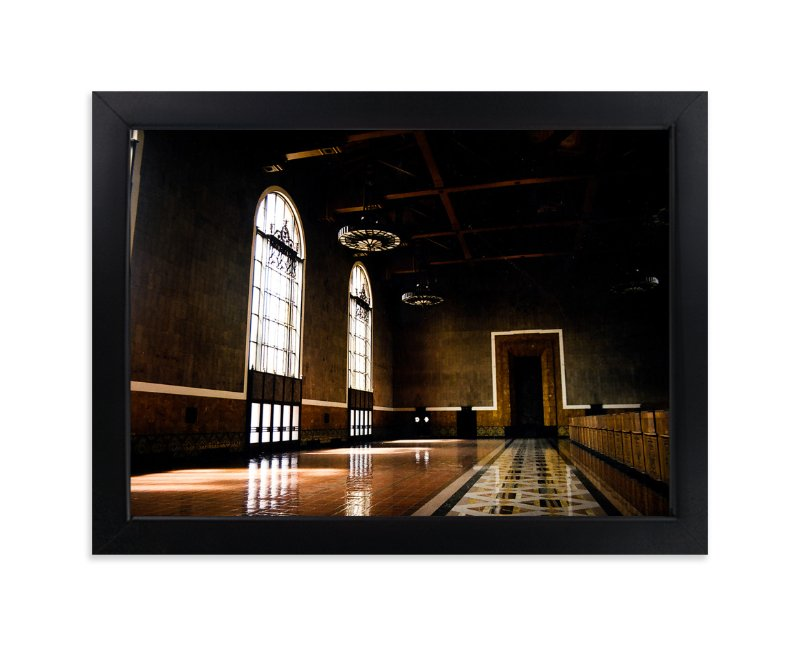"""""""Grand Ticket Concourse"""" - Limited Edition Art Print by Tina Kuczaj in beautiful frame options and a variety of sizes."""