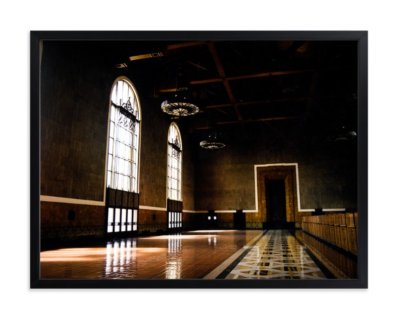 """Grand Ticket Concourse"" - Limited Edition Art Print by Tina Kuczaj in beautiful frame options and a variety of sizes."
