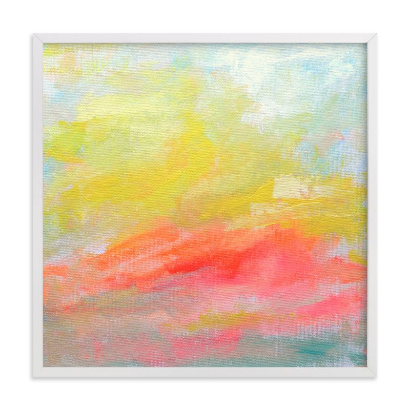 """""""Summer Clouds"""" - Limited Edition Art Print by Lindsay Megahed in beautiful frame options and a variety of sizes."""