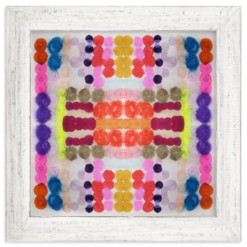 """Dippin Dot Squared No 3"" - Limited Edition Art Print by Kristi Kohut - HAPI ART AND PATTERN in beautiful frame options and a variety of sizes."