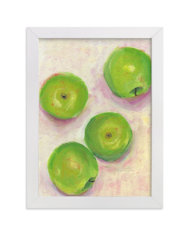 """""""Green Apples"""" - Limited Edition Art Print by Lindsay Megahed in beautiful frame options and a variety of sizes."""