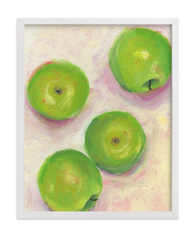 """Green Apples"" - Limited Edition Art Print by Lindsay Megahed in beautiful frame options and a variety of sizes."