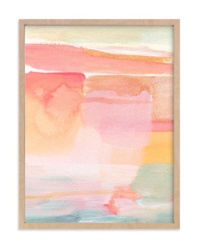"""""""Rising Light"""" - Limited Edition Art Print by Hooray Creative in beautiful frame options and a variety of sizes."""