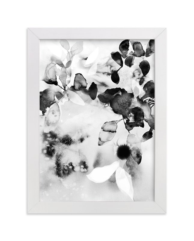 """""""Flora in B+W"""" - Limited Edition Art Print by Marta Spendowska in beautiful frame options and a variety of sizes."""