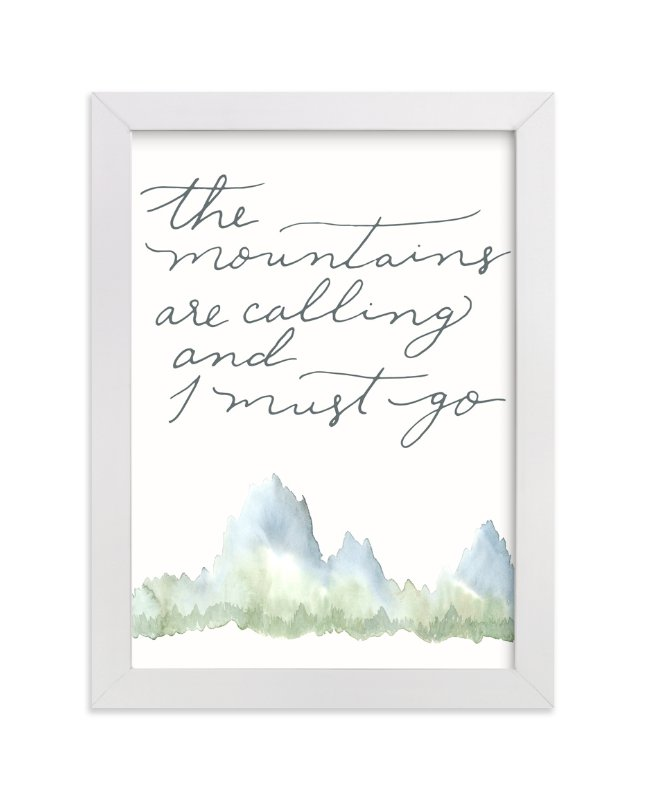 """Mountains"" - Limited Edition Art Print by Sweetgrass Paper Company in beautiful frame options and a variety of sizes."