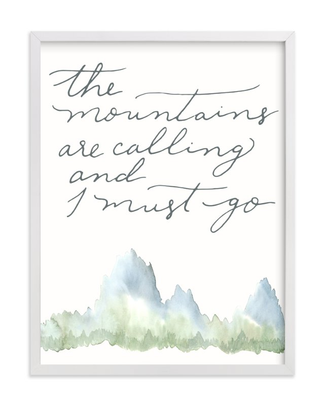 """""""Mountains"""" - Limited Edition Art Print by Sweetgrass Paper Company in beautiful frame options and a variety of sizes."""
