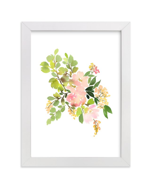 """""""Flora in Peach II"""" - Limited Edition Art Print by Yao Cheng Design in beautiful frame options and a variety of sizes."""