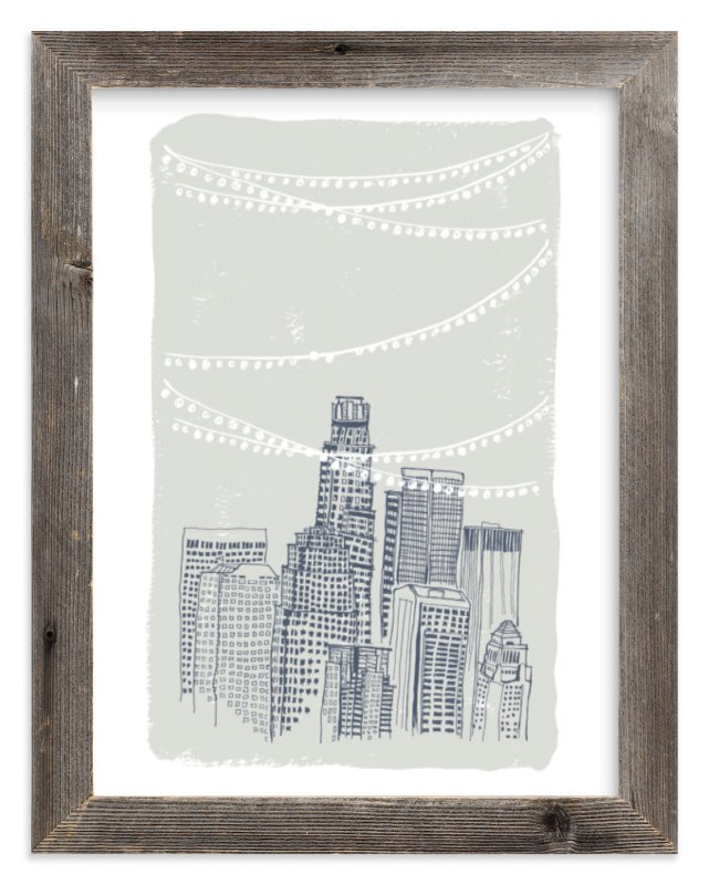 """Roof Party"" - Limited Edition Art Print by Cheeky Design in beautiful frame options and a variety of sizes."
