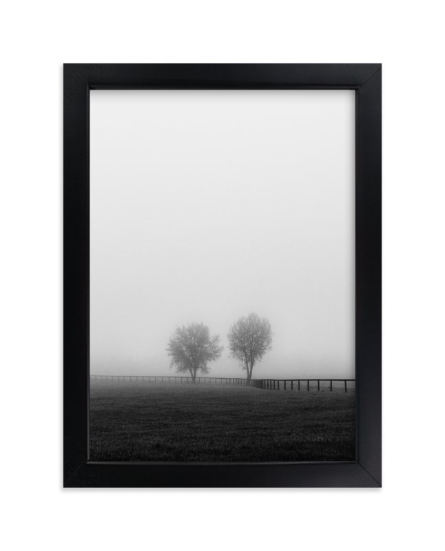"""""""Couple in the Fog"""" - Limited Edition Art Print by Gabrial Reising in beautiful frame options and a variety of sizes."""