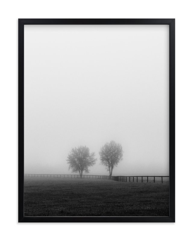 """Couple in the Fog"" - Limited Edition Art Print by Gabrial Reising in beautiful frame options and a variety of sizes."