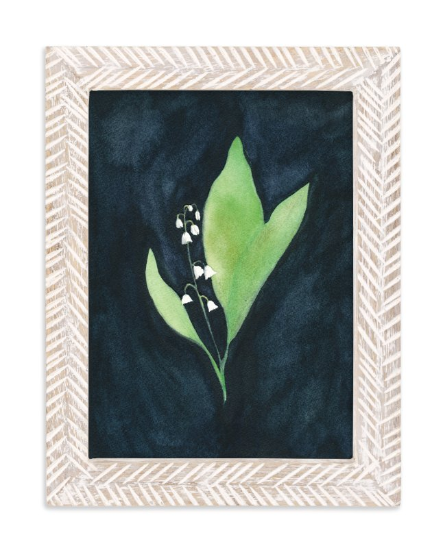 """COURAGE TO REMEMBER   lily of the valley 1"" - Limited Edition Art Print by Renee Anne in beautiful frame options and a variety of sizes."