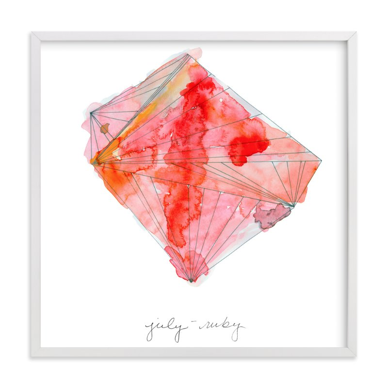 """""""July - Ruby"""" - Limited Edition Art Print by Naomi Ernest in beautiful frame options and a variety of sizes."""