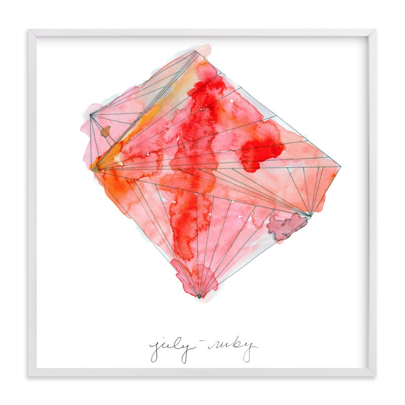 """July - Ruby"" - Limited Edition Art Print by Naomi Ernest in beautiful frame options and a variety of sizes."