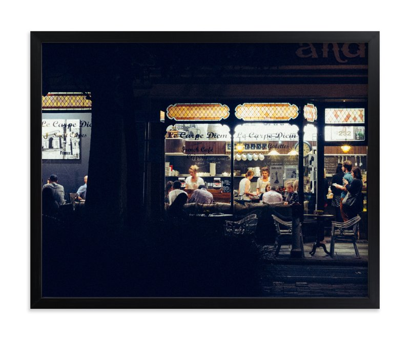 """""""Paris Nights"""" - Limited Edition Art Print by Monday Project in beautiful frame options and a variety of sizes."""