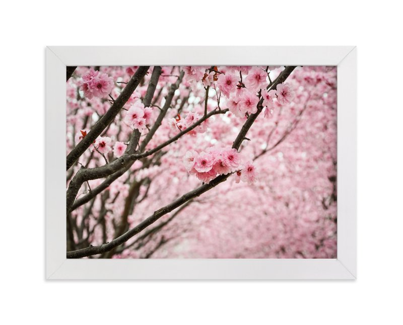 """flowering path"" - Limited Edition Art Print by Qing Ji in beautiful frame options and a variety of sizes."