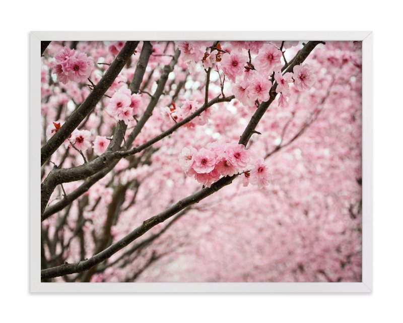 """""""flowering path"""" - Limited Edition Art Print by Qing Ji in beautiful frame options and a variety of sizes."""