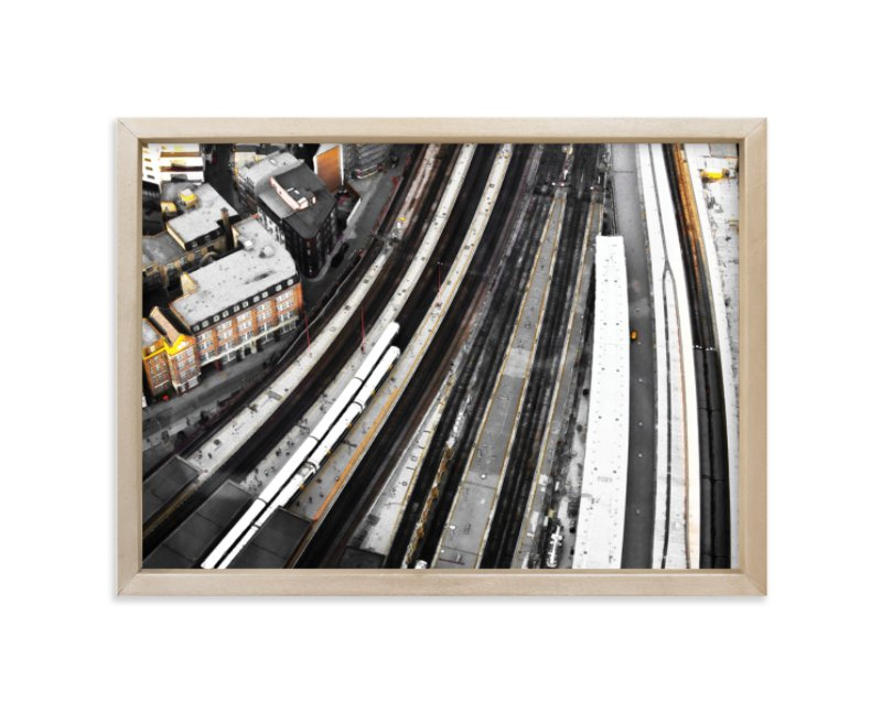 """""""Stroke of infrastructure"""" - Limited Edition Art Print by van tsao in beautiful frame options and a variety of sizes."""