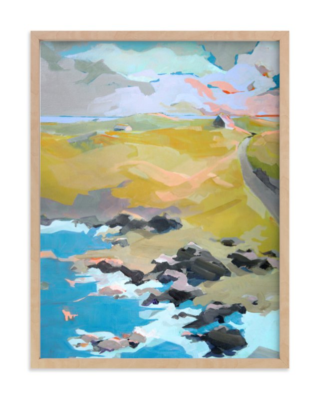 """""""Out To Sea"""" - Limited Edition Art Print by Jess Franks in beautiful frame options and a variety of sizes."""