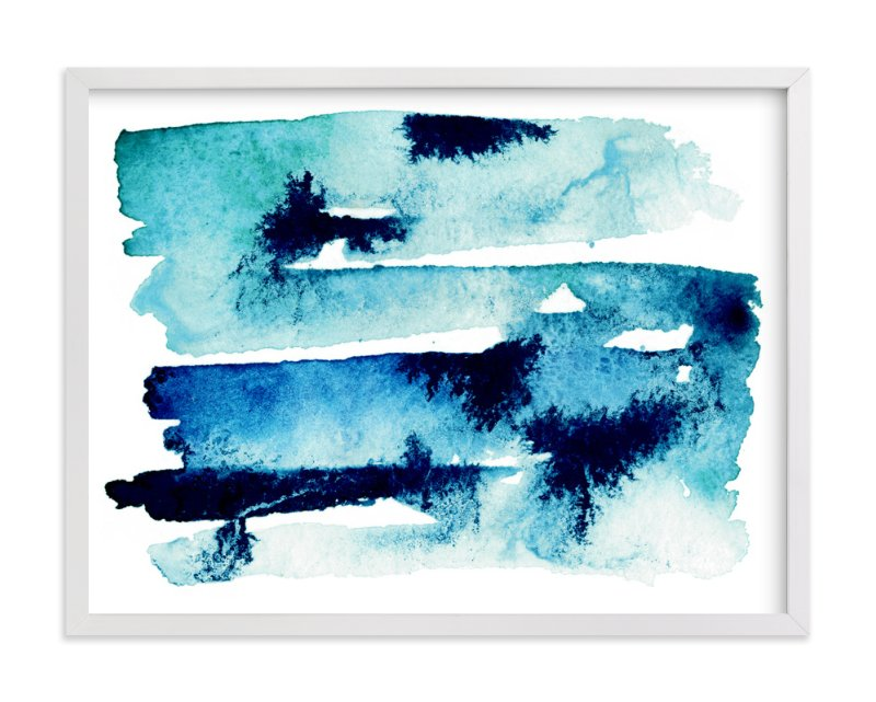 """Sea & Sky"" - Limited Edition Art Print by Naomi Ernest in beautiful frame options and a variety of sizes."