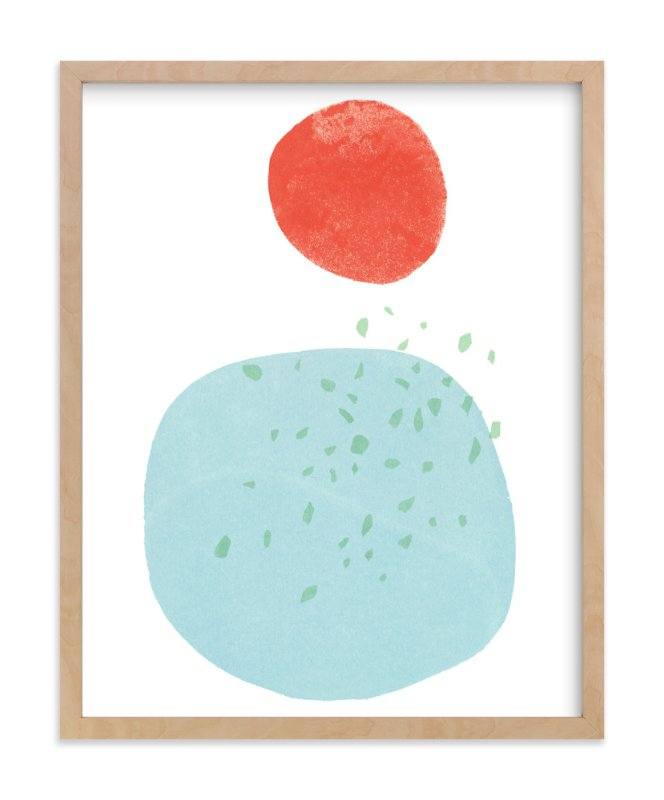 """""""Moonlight Rain"""" - Limited Edition Art Print by Hi Uan Kang Haaga in beautiful frame options and a variety of sizes."""