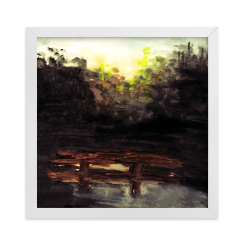 """A Summer Night"" - Limited Edition Art Print by Mande in beautiful frame options and a variety of sizes."