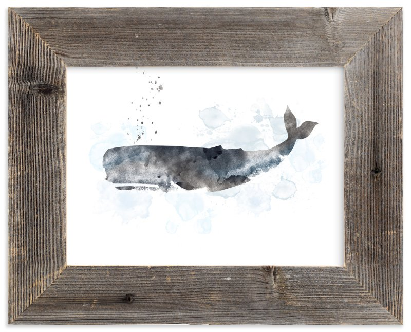"""Whale Series One"" - Art Print by Shirley Lin Schneider in beautiful frame options and a variety of sizes."