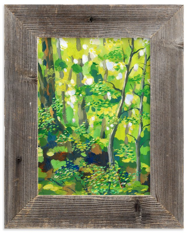 """Green forest"" - Limited Edition Art Print by Alexandra Dzh in beautiful frame options and a variety of sizes."