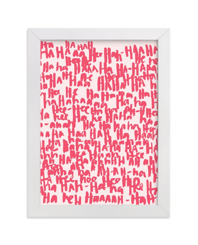 """""""HA-HA-HA-HA"""" - Limited Edition Art Print by Kate Roebuck in beautiful frame options and a variety of sizes."""