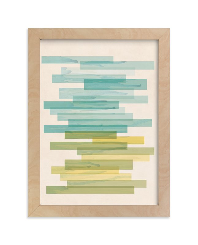 """Stacked Horizon"" - Limited Edition Art Print by Jennifer Morehead in beautiful frame options and a variety of sizes."