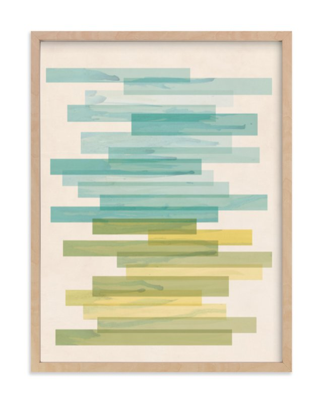 """""""Stacked Horizon"""" - Limited Edition Art Print by Jennifer Morehead in beautiful frame options and a variety of sizes."""