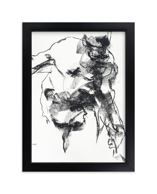 """""""Drawing 264 - Gesturing Man"""" - Limited Edition Art Print by Derek overfield in beautiful frame options and a variety of sizes."""