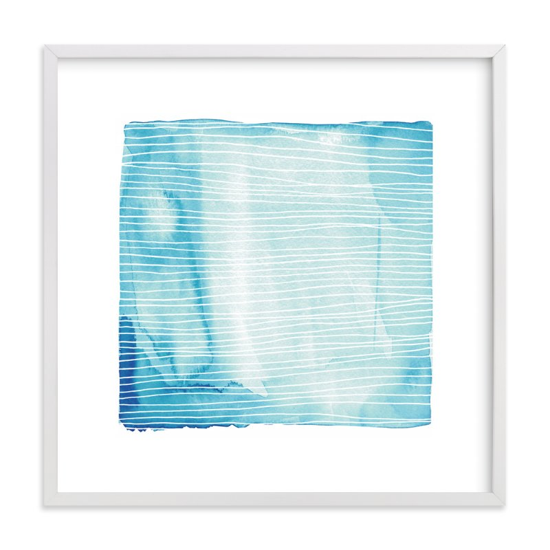 """""""Currents"""" - Limited Edition Art Print by Paper Dahlia in beautiful frame options and a variety of sizes."""