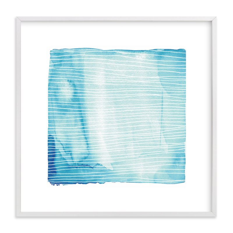 """Currents"" - Limited Edition Art Print by Paper Dahlia in beautiful frame options and a variety of sizes."