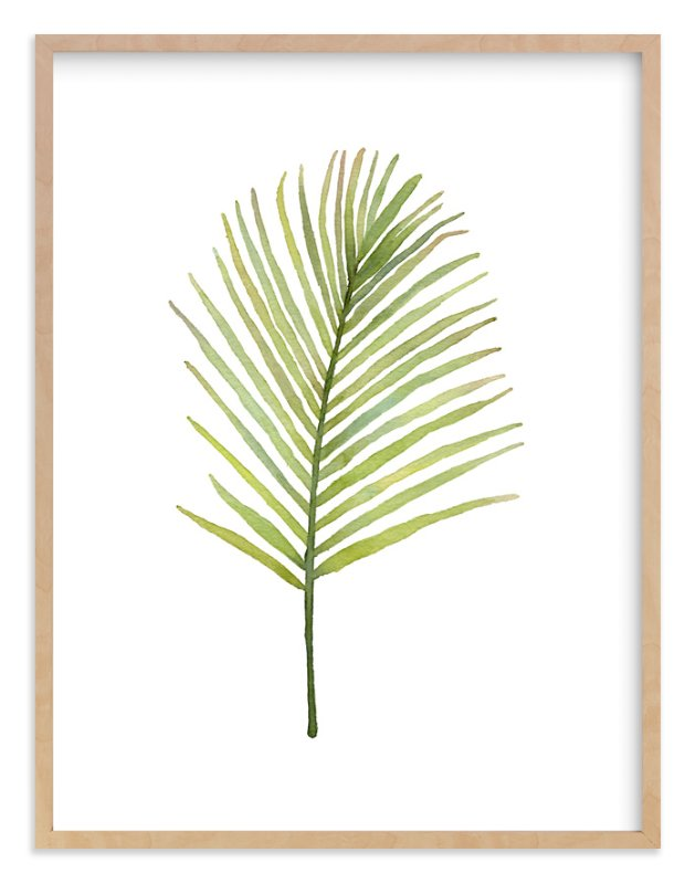 """""""I'm Frond of You No. 2"""" - Limited Edition Art Print by Andi Pahl in beautiful frame options and a variety of sizes."""
