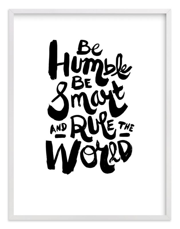 """Humble World"" - Limited Edition Art Print by Heather Francisco in beautiful frame options and a variety of sizes."