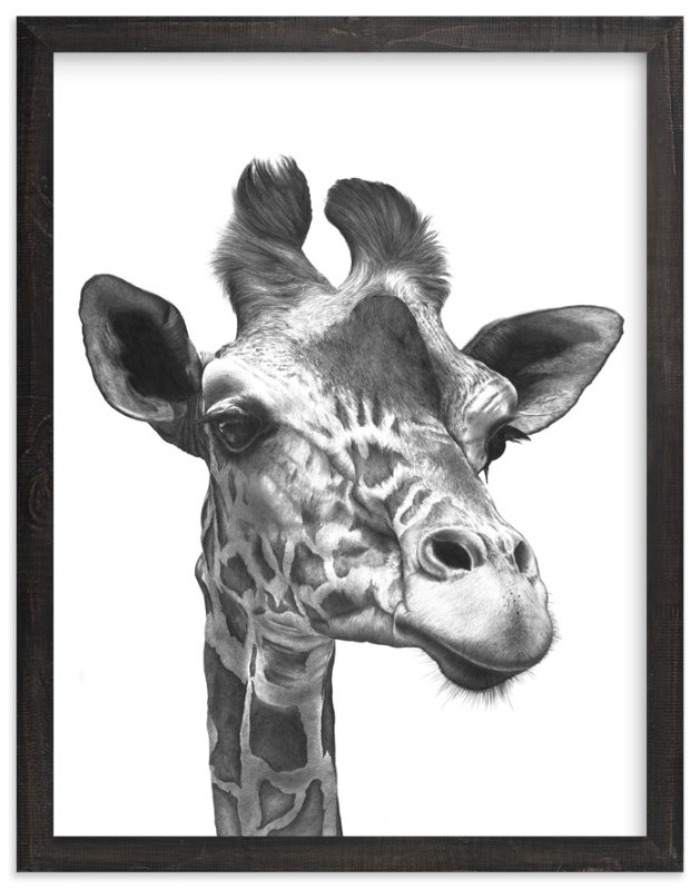 """""""Giraffe"""" - Limited Edition Art Print by Jerry Winick in beautiful frame options and a variety of sizes."""