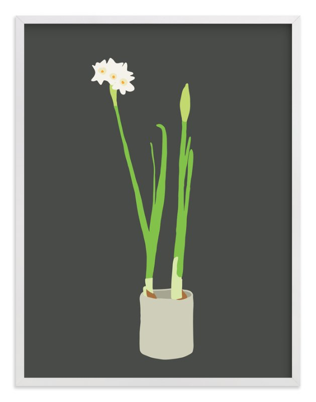 """Paperwhites"" - Limited Edition Art Print by Jorey Hurley in beautiful frame options and a variety of sizes."