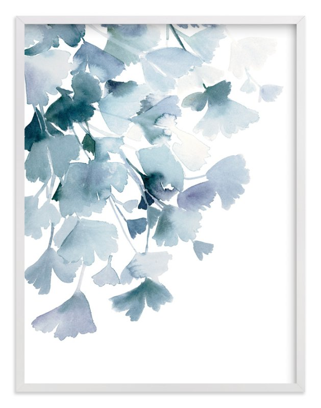 """""""Blue Ginkgo"""" - Limited Edition Art Print by Yao Cheng Design in beautiful frame options and a variety of sizes."""
