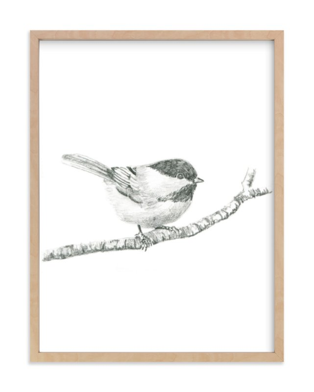 """Chickadee"" - Limited Edition Art Print by Corinne Aelbers in beautiful frame options and a variety of sizes."