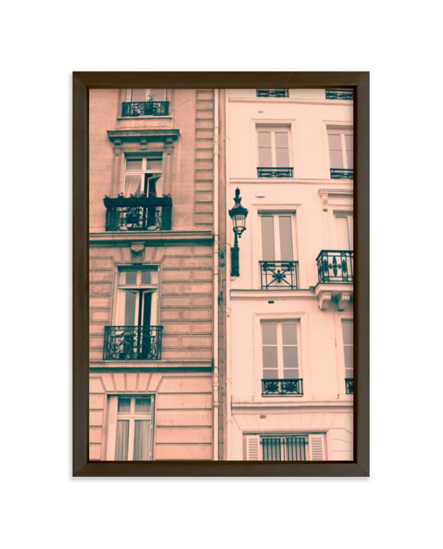 """Pink Facades"" - Limited Edition Art Print by Caroline Mint in beautiful frame options and a variety of sizes."