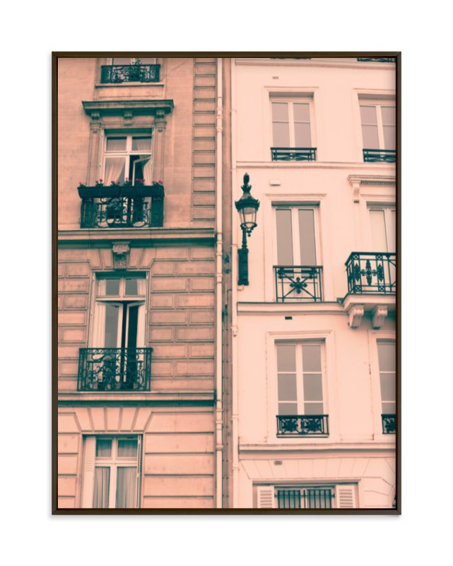 """""""Pink Facades"""" - Limited Edition Art Print by Caroline Mint in beautiful frame options and a variety of sizes."""