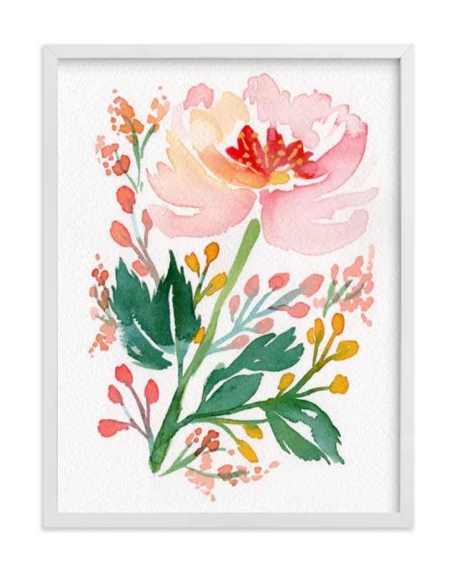 """""""Springtime in Marseilles"""" - Limited Edition Art Print by Natalie Malan in beautiful frame options and a variety of sizes."""