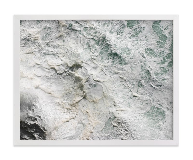 """""""Foaming Sea Water III"""" - Limited Edition Art Print by Becky Nimoy in beautiful frame options and a variety of sizes."""